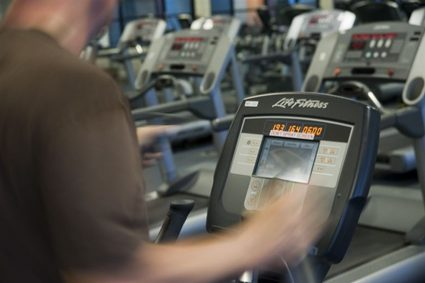 Exercise for fitness in the gym