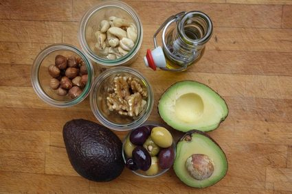 Example of healthy fatty food