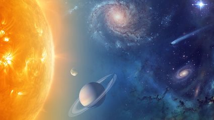 artistic image of astronomical objects