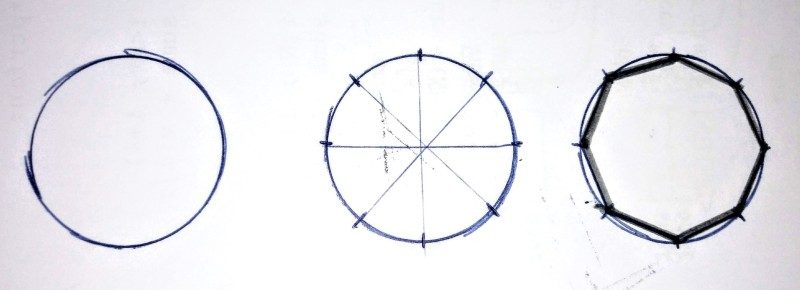 How to draw an octagon shape? use your imagination