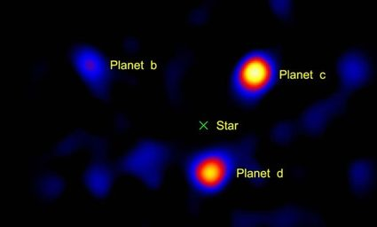 Image of the only exoplanets discovered by direct imaging
