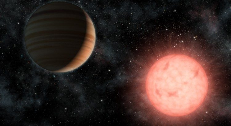 Artist's impression of picture of an exoplanet