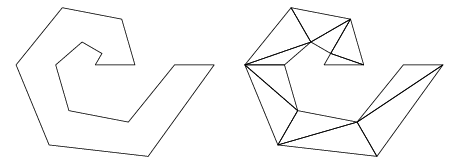 Decomposing one complex polygon into many simple ones