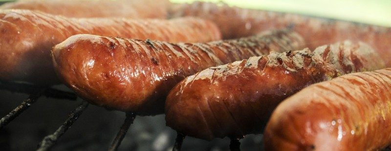 sausages in the bbq