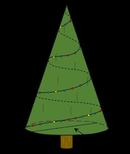 How to decorate a Christmas tree - a picture explaining the use of the Christmas tree calculator