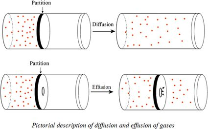 The diffusion and effusion of gases