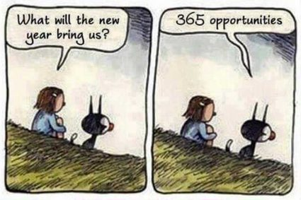 New Year Resolutions meme - don't wait for next year