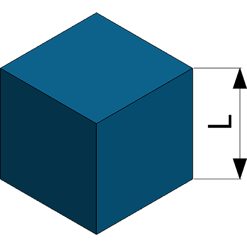 Cube with side L