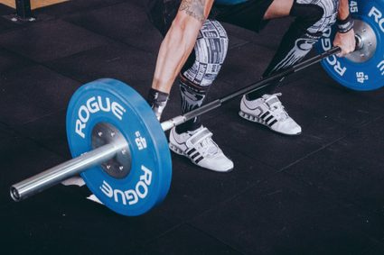 Weightlifting the barbell at the Olympics