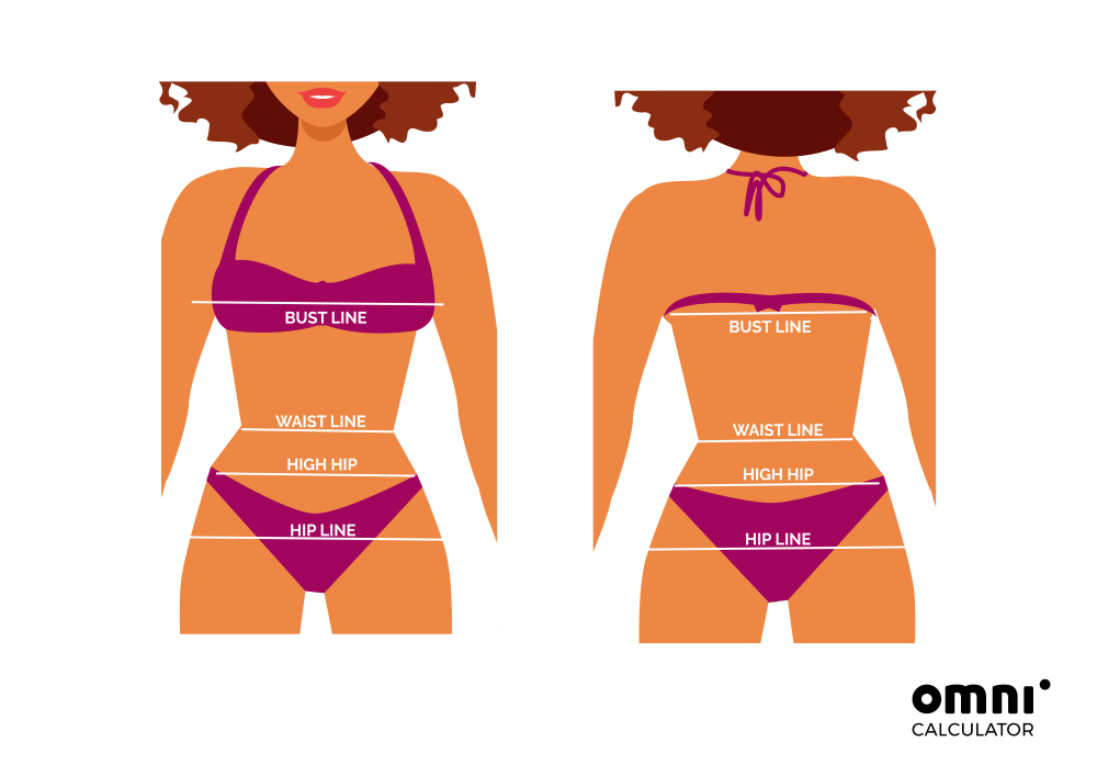bikini calculator - measurements