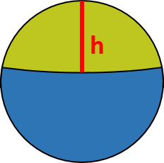 The ball with marked cap's height.