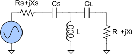 Highpass T-match circuit topology.