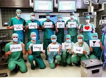 Healthcare service: We stay here for you, please stay home for us!