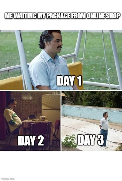 Waiting for your online order be like