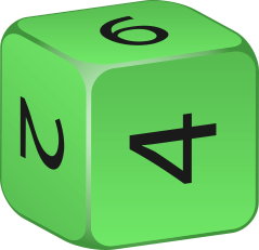 A 6 sided dice (Cube)