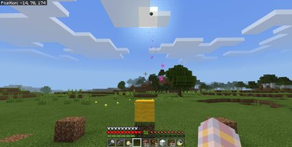 Example of throwing the Eye of Ender