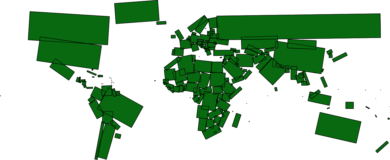 world in the form of rectangles