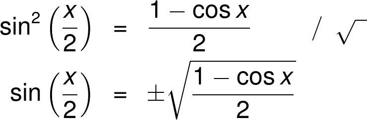 How to get the sin half-angle formula.
