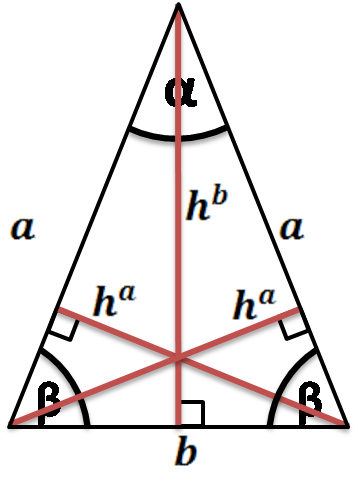 height of an isosceles triangle
