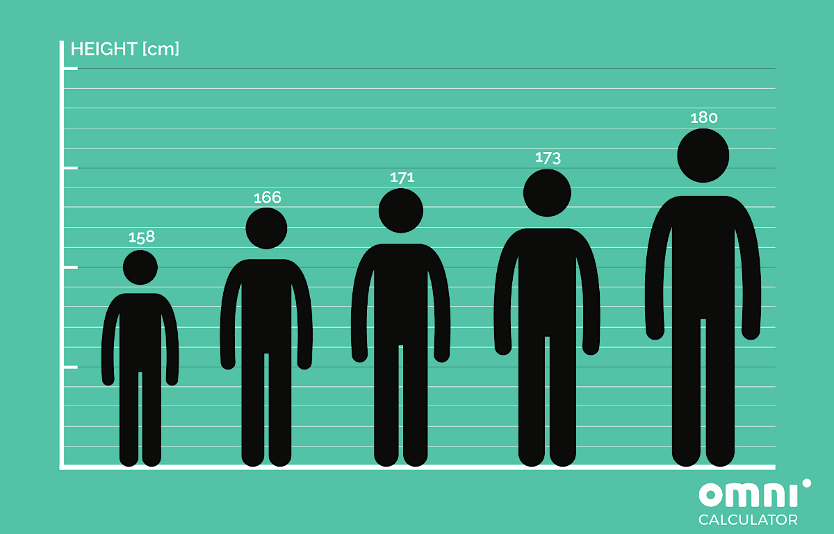 Five persons who stand next to each other in height order