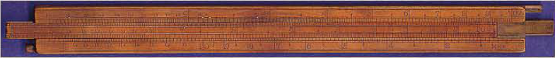 William Oughtred logarithm slide rule