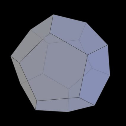 The picture of a regular dodecahedron