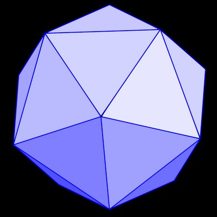 The picture of a regular icosahedron