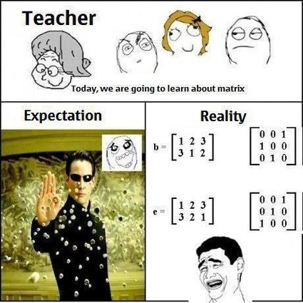 Studying matrices expectations vs reality.