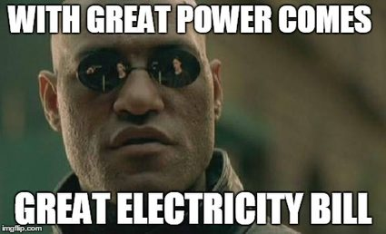 Higher matrix powers can be costly.