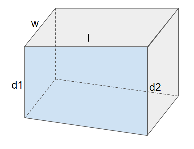 image of a pool, the depth changing linearly