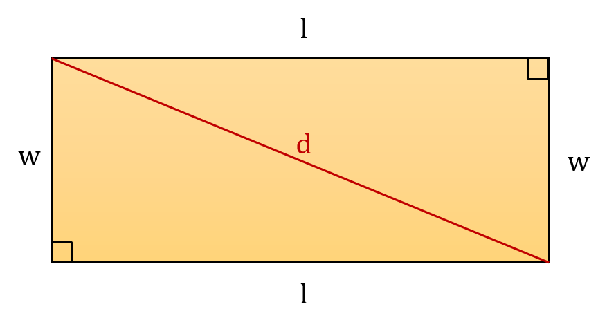 How to find the diagonal of a rectangle?
