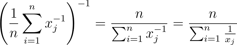 Generalized mean formula for p=-1