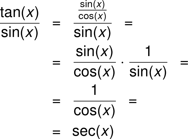 The alternative secant formula.