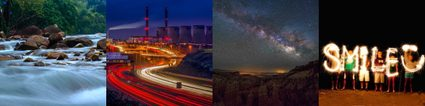 Image of  different creative shots at slow shutter speeds.