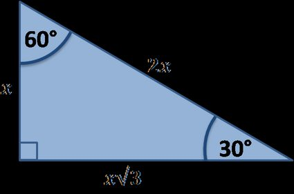 Special right triangle: 30-60-90