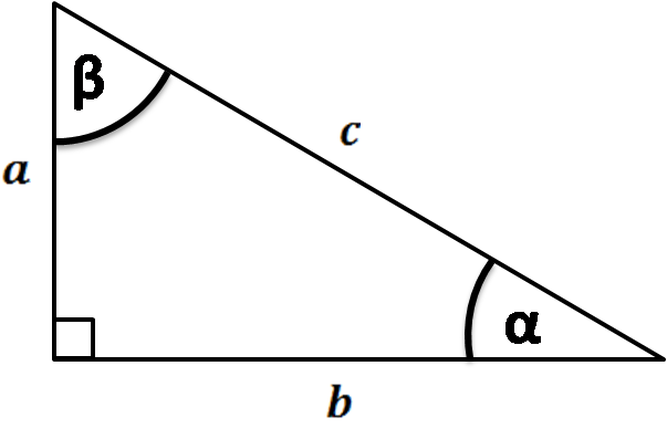 trigonometry in a right triangle