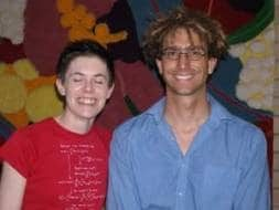 Photo of Nic Svenson and Dr. Piers. One of them blinked.