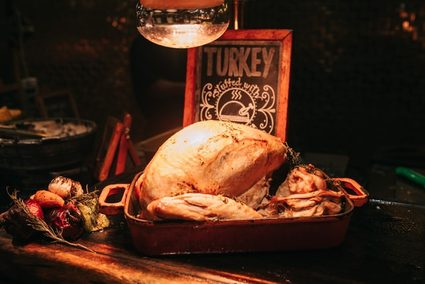 Roast turkey with all the trimmings