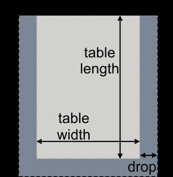 Booth table and tablecloth