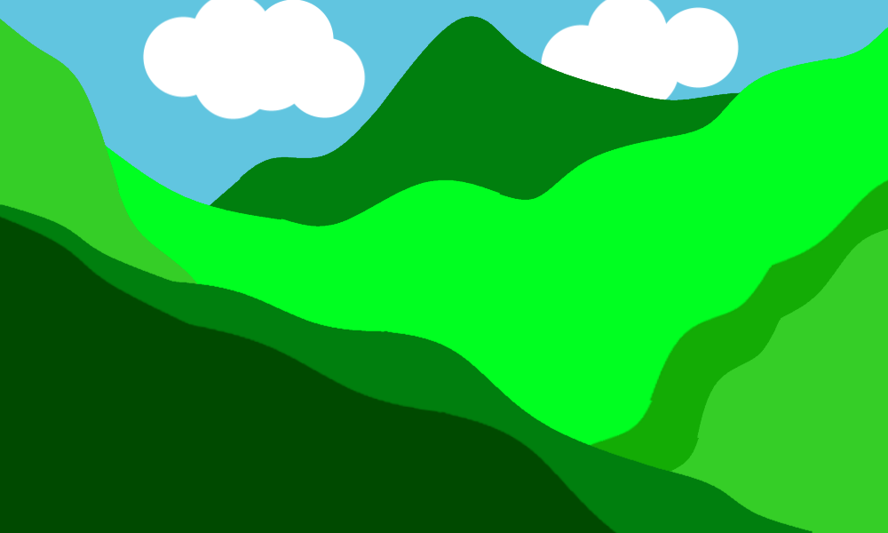 simple drawing of mountain ranges to illustrate the varying terrain grades