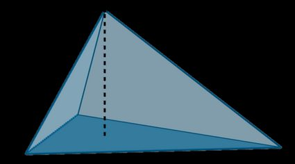 Base and height of a triangular pyramid