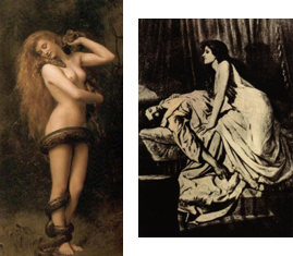 'Lilith' and 'The Vampire' pantings