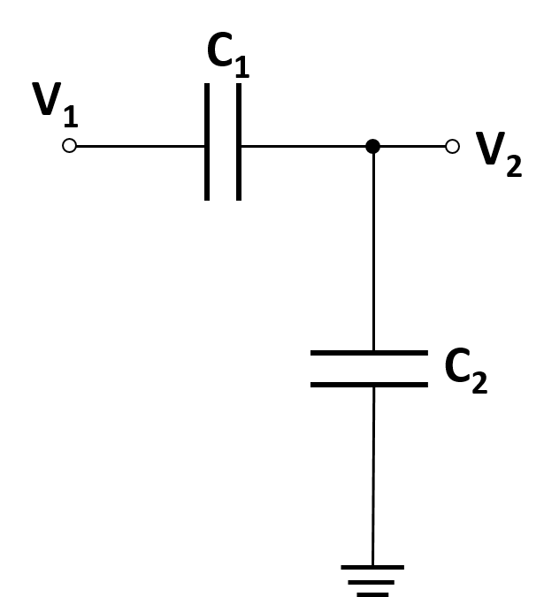 a diagram of a CC voltage divider