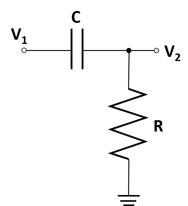 a diagram of a CR voltage divider