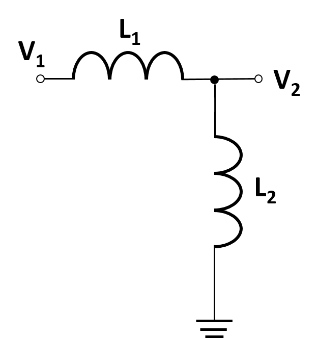 a diagram of an LL voltage divider
