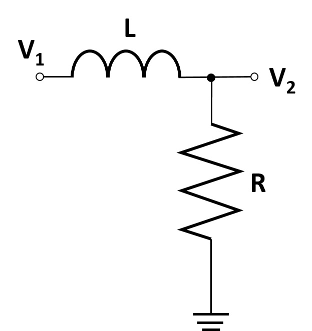 a diagram of an LR voltage divider