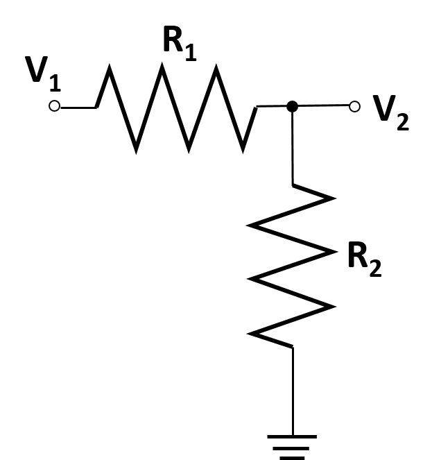 a diagram of an RR voltage divider