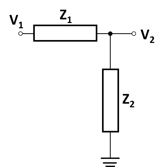 a general diagram of a voltage divider