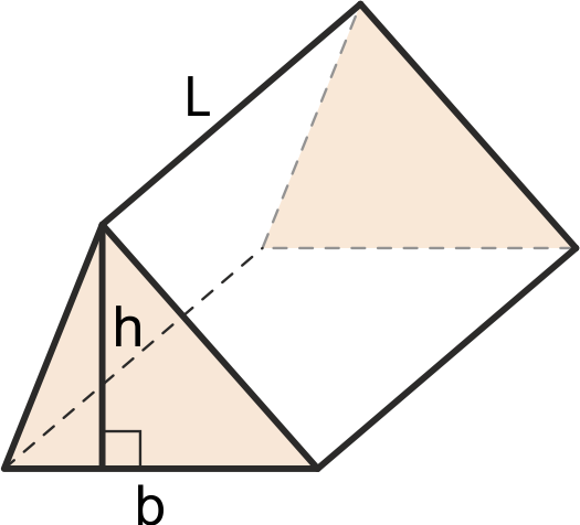 Triangular prism with a known base and height of its face